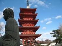 銚子飯沼観音の五重の塔
