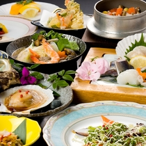 ■料理集合84(アップ・鍋・釜・造り焼貝)安じゃらん