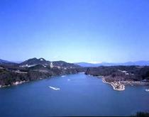恵那峡の全景