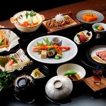 ◆秋の里山会席-2016年9月~11月末までのメニューです。1品ずつお出しする料理長厳選の会席膳。