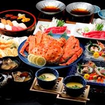 ◆4大夕食プラン~タラバ、寿司、天ぷら、すき焼き