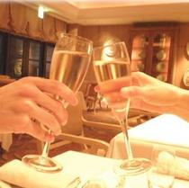 シャンパンで乾杯☆