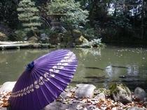 尾山神社庭園にたたずむひと時