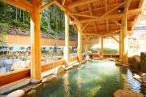 源泉かけ流し湯ノ口温泉(別施設)露天風呂