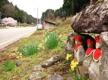 明治時代以前から伝わるお地蔵様がゆうか庵の山に祀られております