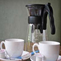 セミダブルツインルームのコーヒーサービス