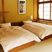 お部屋「丹頂」ベッドルーム