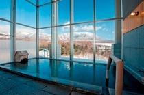 【天の湯】冬の南部富士「岩手山」と一帯に広がる絶景を眺めながら至福の湯浴みをお楽しみください