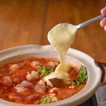 チーズフォンヂュのトマト鍋