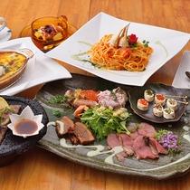 人気メニュー。選べる洋食コースプラン