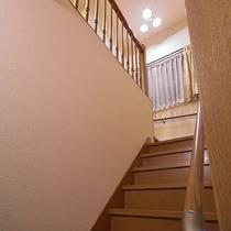客室へ続く階段