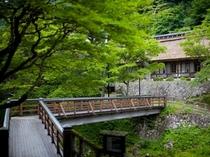 ☆【夏】 曲り橋より菊水館