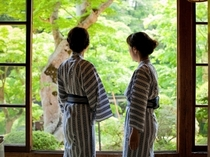 ★【梅の間】 広縁 初夏