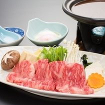 *前沢牛 味噌すき焼き雑穀料理 当社名物