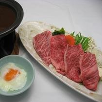 *岩手牛味噌すき焼き(当社名物)