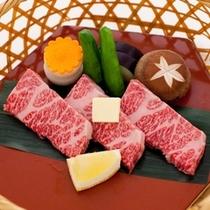 *前沢牛ミニ陶板焼