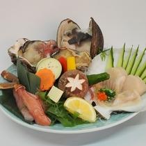 海鮮陶板焼 (季節により食材は異なります。)