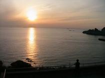 展望台からの夕日