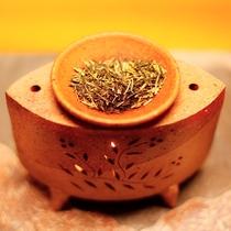 「ほっ。」と心が和むお茶香炉の香りのもてなしが嬉しい・