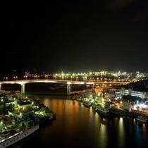 【客室眺望】海側客室から眺める夜景/例