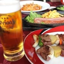 ビアガーデン(ビール&肉)