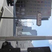 アクセス車④広瀬通りから迂回していただきます