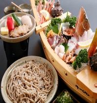 鮑+舟+蕎麦