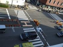 ラウンジから見た日比谷通り 箱根駅伝も東京マラソンも見えます♪