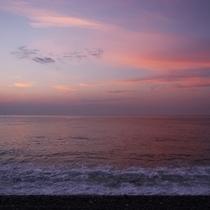△七里御浜の夕景