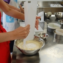 △ふわっとした食感が味わえる-シフォンケーキ作り体験-