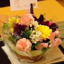 □アニバーサリープランの方にはブーケのプレゼント!