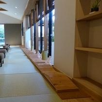 ◇湯浴みぼっこ 足踏み-ミニ熊野古道-
