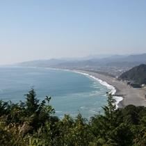 △松本峠から望む七里御浜