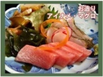 季節のお料理(お造り アイナメとマグロ)