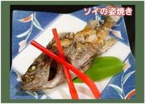 季節のお料理(ソイの姿焼き)