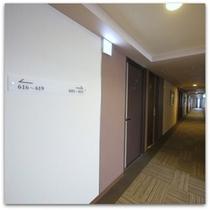 ●客室廊下●