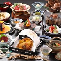 秋季限定 松茸プラン懐石 当館の地域では秋と言えば松茸も有名