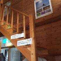 ・・・食堂から和室に上がる階段・・・
