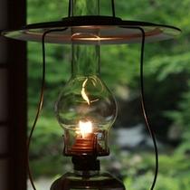 *ランプの灯りが幻想的