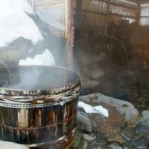 *【露天風呂】冬には雪見露天も楽しめる、風情ある露天風呂です。