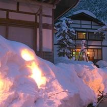 *【かまくら】雪深い当館だからこそ見ることのできる、期間限定の光の芸術。