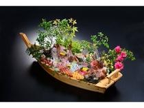 魚介類の舟盛り(5名〜10名様用)