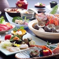 【夏の膳】夏の淡路の鮮魚と山里の幸をメインにちりばめた地産地消の旬のディナーコース。