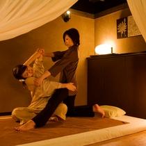 【タイ古式マッサージ バンクンメイ】隣接するグループホテルの施設もご利用頂けます(淡路夢泉景内)