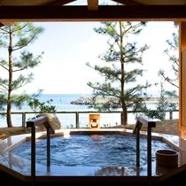 【くにうみの湯】 ジャグジー風呂も海が目の前!爽快です