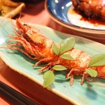 *【夕食一例】海の幸/エビ焼