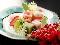 ☆★クリスマスプランの和風デザート★☆素敵なご宿泊を・・・特典満載♪※内容は変わる場合がございます