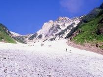 日本三大雪渓のひとつ「白馬大雪渓」