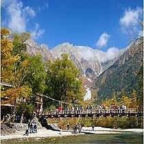 秋の上高地 河童橋