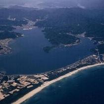 久美浜湾と小天橋全景